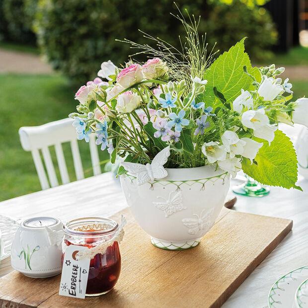 Colourful Spring kleine Vase, weiß/grün, , large