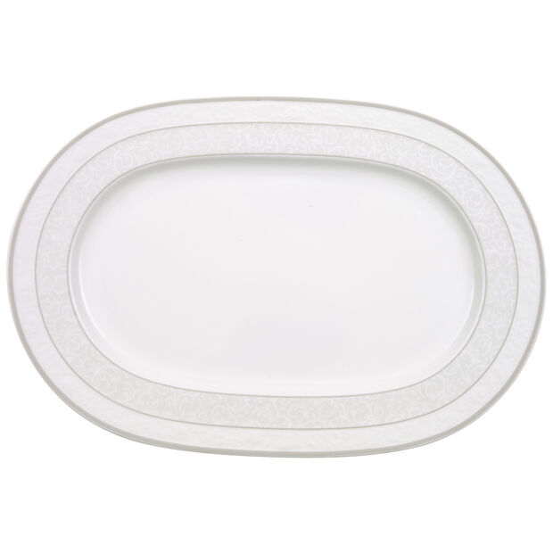 Gray Pearl Platte oval 35cm, , large