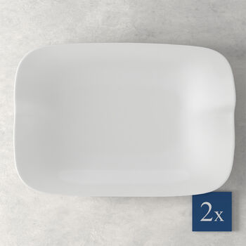 Pasta Passion Lasagne-Teller Set 2 Stück 32,5x22,4x3,8cm