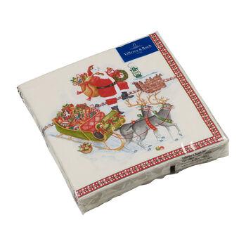 Winter Specials Lunch-Serviette Weihnachtsmann, bunt, 20 Stück, 33 x 33 cm