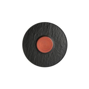 Manufacture Rock Glow Kaffeeuntertasse, kupfer/schwarz, 15,5 x 15,5 x 2 cm