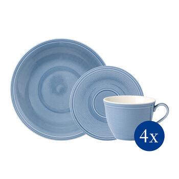 Color Loop Horizon Kaffee-Set, himmelblau, 12-teilig