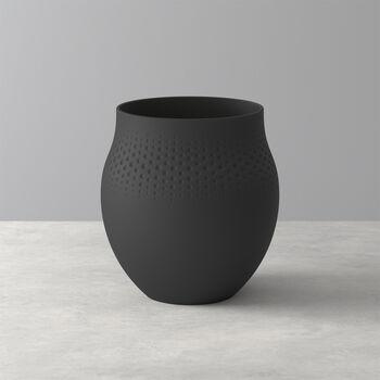Manufacture Collier noir Vase Perle groß 16,5x16,5x17,5cm