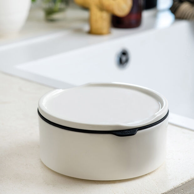 ToGo&ToStay Lunchbox, 13x6cm, rund, weiß, , large