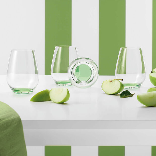 Colourful Life Green Apple Cocktail-/Wasserglas-Set 4-teilig, , large