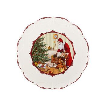 Toy's Fantasy Gebäckteller groß,Santa bringt Geschenke 42x42x2cm