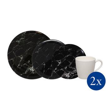 Marmory Kombi-Set Black, schwarz, 8-teilig