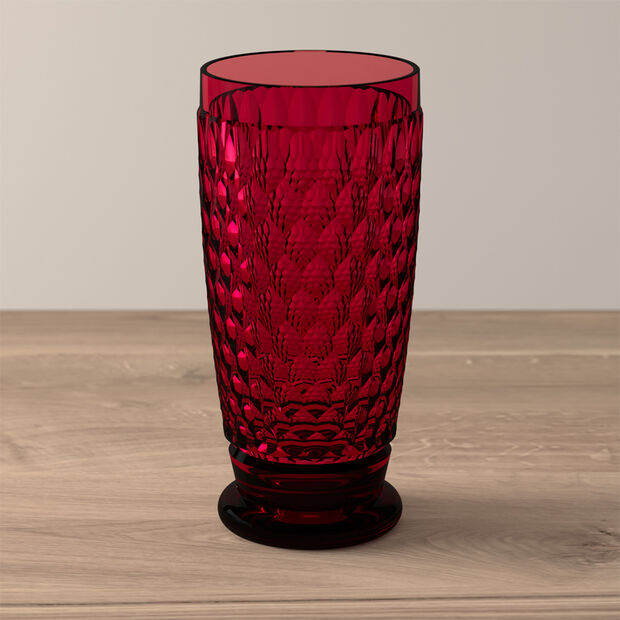 Boston Coloured Longdrink-Glas Red, , large