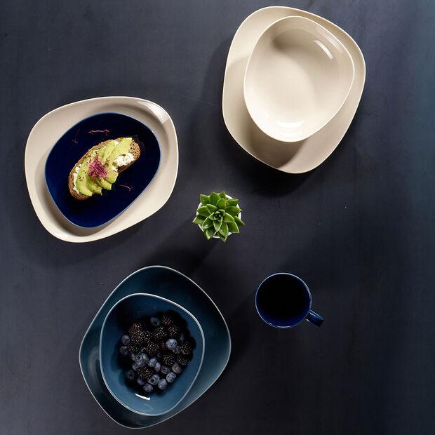 Organic Frühstücksteller, 2 Stück, Blau/Beige, , large