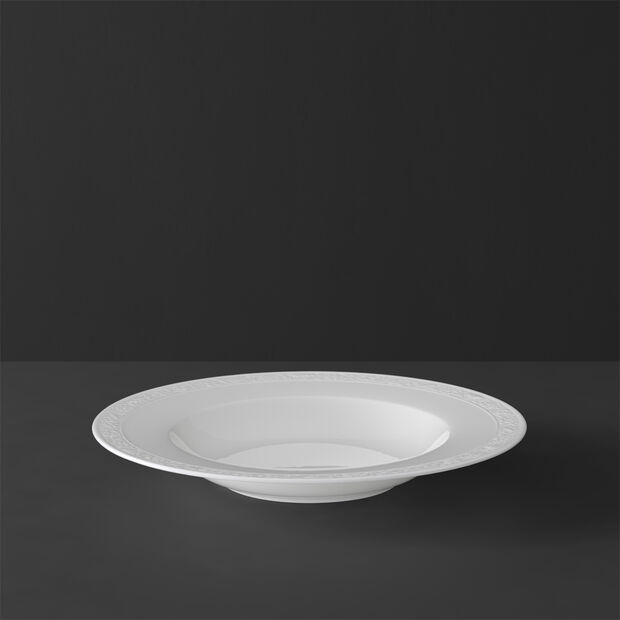 White Pearl Suppenteller, , large