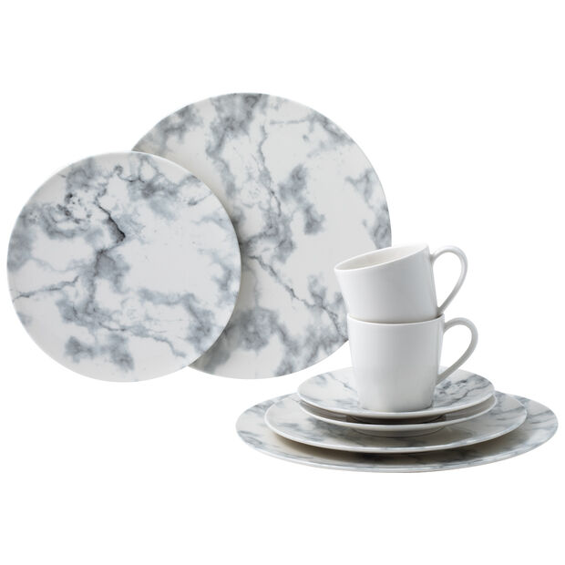 Marmory Kombi-Set White, weiß, 8-teilig, , large