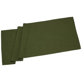 Textil Uni TREND Tischläufer dunkelgrün 50x140cm