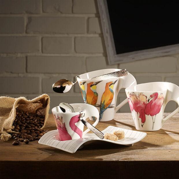 NewWave Caffè Rosa Flamingo Becher mit Henkel (Geschenkkarton), , large