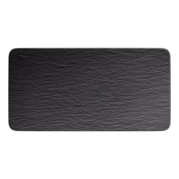 Manufacture Rock rechteckige Servierplatte, schwarz/grau, 35 x 18 x 1 cm, , large