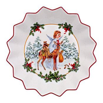 Toy's Fantasy große Schale Christkind, bunt/rot/weiß, 24 x 24 x 4,5 cm