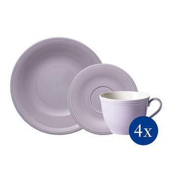Color Loop Blueblossom Kaffee-Set, blau, 12-teilig