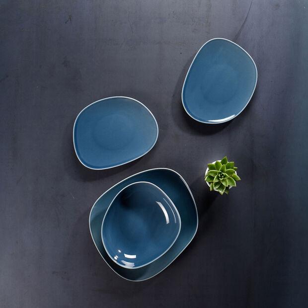 Organic Turquoise Speiseteller 28 x 24 x 3cm, , large