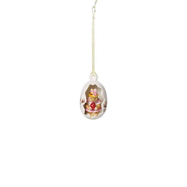 Bunny Tales Ei-Ornament Anna, Blüten rosa 4,5x4,5x7cm, , large