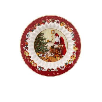 Toy's Fantasy Schale groß, Santa bringt Geschenke 25x25x5cm