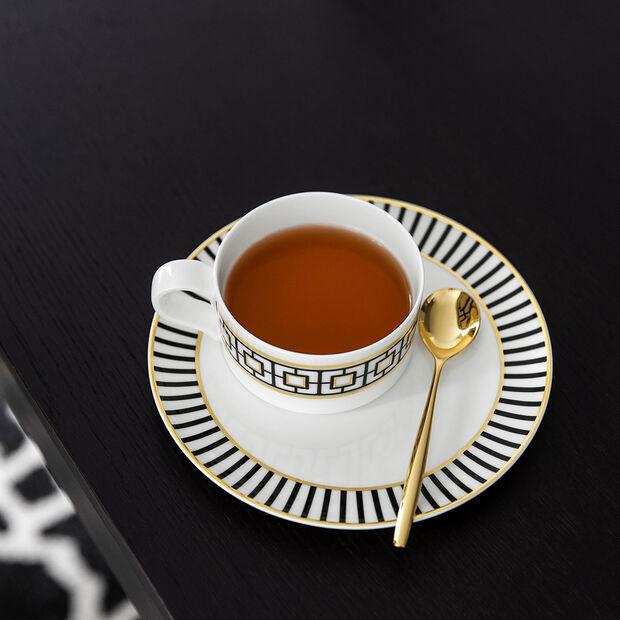 MetroChic Teetasse, 230 ml, Weiß-Schwarz-Gold, , large