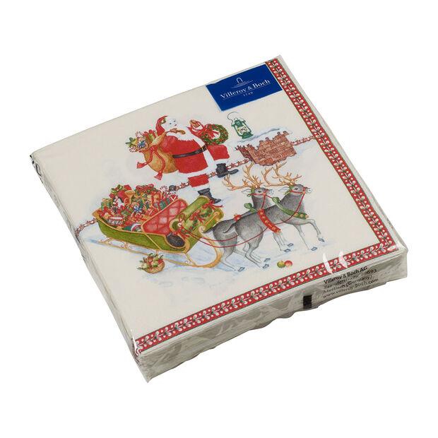 Winter Specials Lunch-Serviette Weihnachtsmann, bunt, 20 Stück, 33 x 33 cm, , large