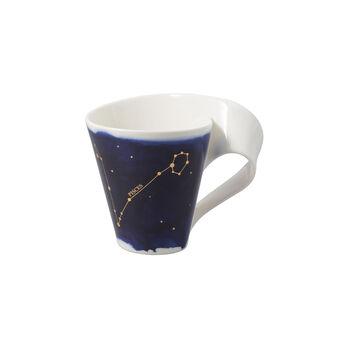 NewWave Stars Becher Fische, 300 ml, Blau/Weiß