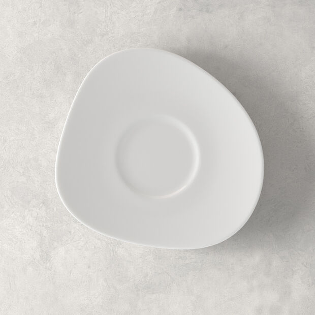 Organic White Kaffee-Untertasse, weiß, 17,5 cm, , large