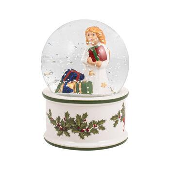 Christmas Toys kleine Schneekugel Christkind, 6,5 x 6,5 x 9 cm