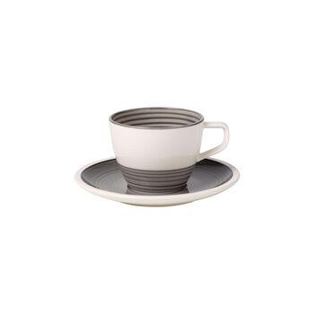 Manufacture gris Kaffeetasse mit Untertasse 2tlg.