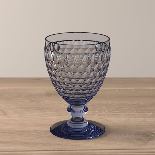 Boston Coloured Rotweinglas Blue, , large
