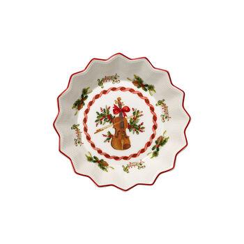 Toy's Fantasy kleine Schale Geige, rot/bunt, 17 x 17 x 3 cm
