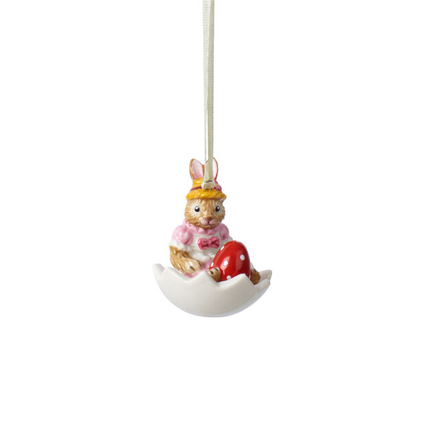 Bunny Tales Ornament Anna in Ei-Schale, , large