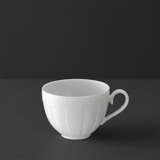White Pearl Tee-/Kaffeeobertasse, , large