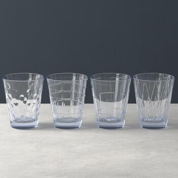 Dressed Up Wasserglas-Set Blue 4-teilig