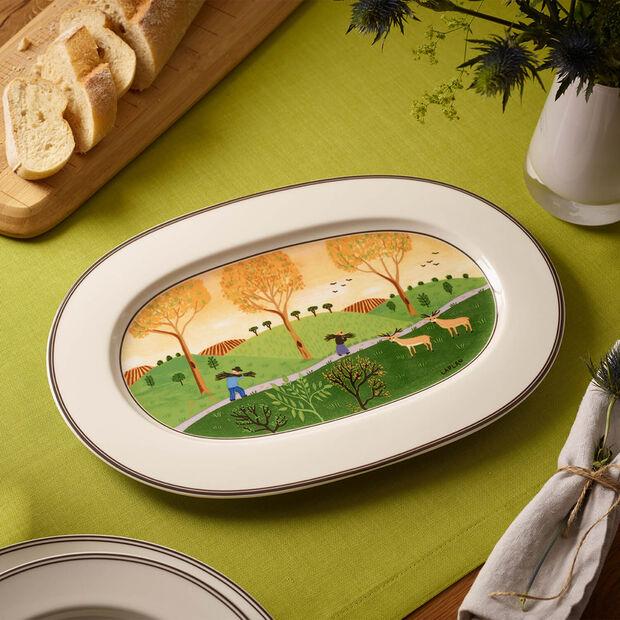Design Naif ovale Platte 34cm, , large