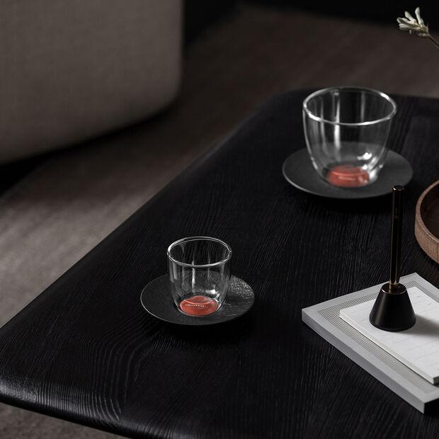 Manufacture Rock Glow Espresso-Untertasse, kupfer/schwarz, 12 x 12x 2 cm, , large
