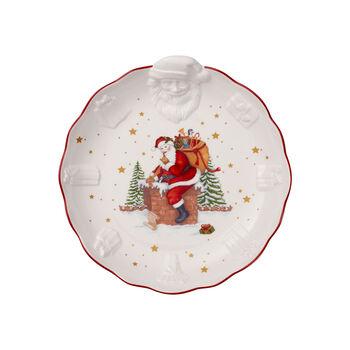 Toy's Fantasy Relief-Schale Santa, weiß/bunt, 24 x 25 x 4,6 cm