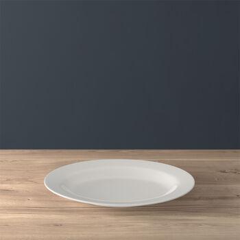 Twist White Platte oval 34cm