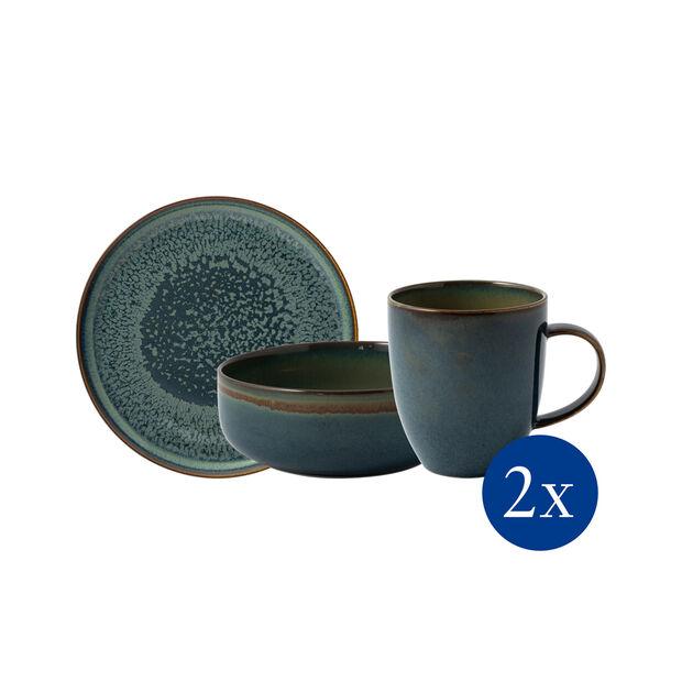 Crafted Breeze Frühstücks-Set, graublau, 6-teilig, , large