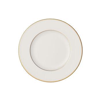 Anmut Gold Brotteller, Durchmesser 16 cm, Weiß/Gold