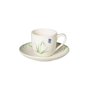 Colourful Spring Espressotasse mit Untertasse, weiß/grün
