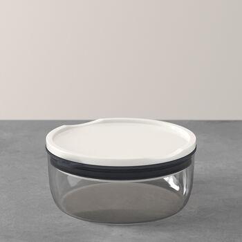 ToGo&ToStay Lunchbox, 13x6cm, rund, grau