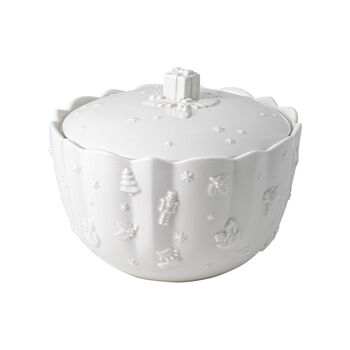 Toy's Delight Royal Classic biscuit jar, white, 20 x 15 cm