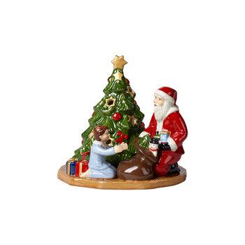 Christmas Toy's Windlicht Bescherung, bunt, 15 x 14 x 14 cm
