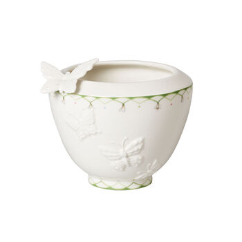 Colourful Spring kleine Vase, weiß/grün