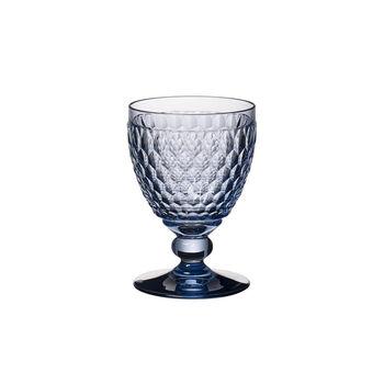 Boston Coloured Rotweinglas Blue