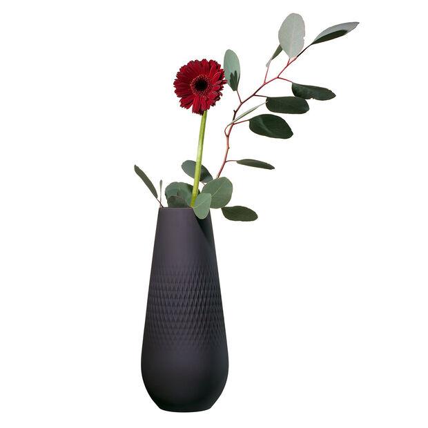Manufacture Collier noir Vase Carré hoch 11,5x11,5x26cm, , large