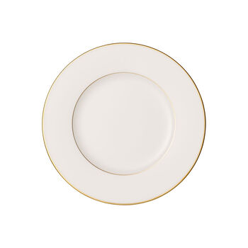 Anmut Gold Frühstücksteller, Durchmesser 22 cm, Weiß/Gold