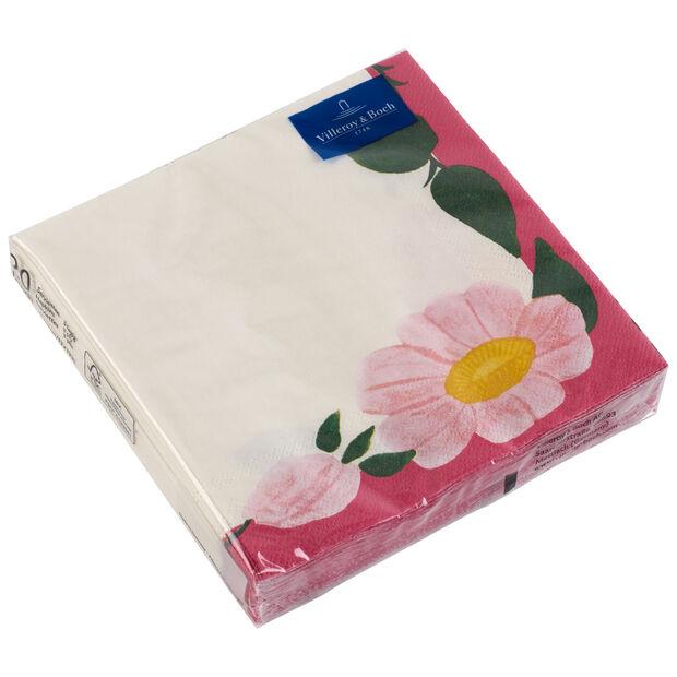 Papier Servietten Rose Sauvage Framboise, 33 x 33 cm, 20 Stück, , large