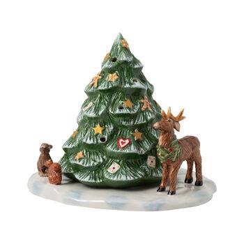 Christmas Toys Weihnachtsbaum mit Waldtieren, 23 x 17 x 17 cm